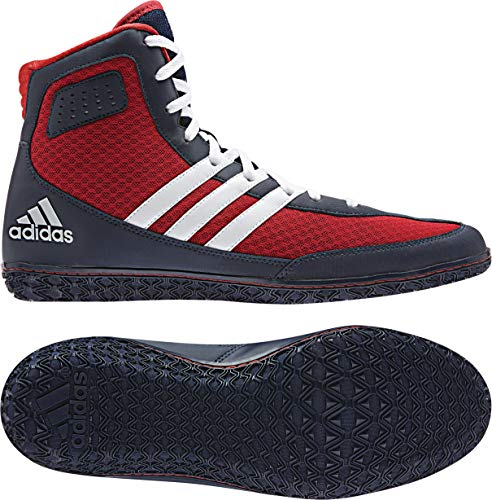 adidas Mat Wizard 3 Wrestling Shoes - Navy/White/Red - 8.5