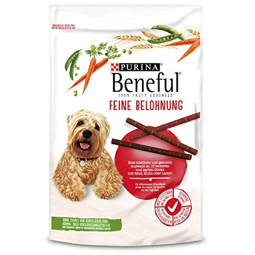 PURINA BENEFUL Feine Belohnung Hundeleckerli, gesunder Hundesnack, Sorten-Mix, 8er Pack (8 x 126g)