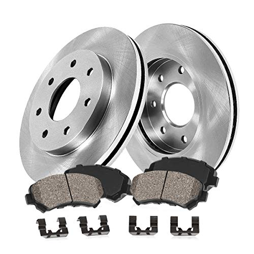 [ 4WD ] FRONT 308 mm Premium OE 7 Lug [2] Brake Disc Rotors + [4] Ceramic Brake...