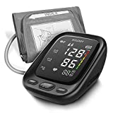 HYLOGY Upper Arm Blood Pressure Mointor, Digital Automatic Blood Pressure Mointor, Large Touchable LED Screen and Voice Broadcast, 2 * 90 Memory and Large Cuff(22-42cm)