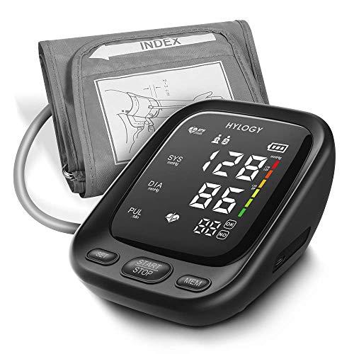 Blutdruckmessgerät Oberarm, HYLOGY Digital Vollautomatisch Blutdruckmessgerät und Pulsmessung,...