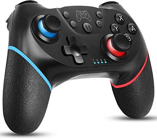 Wireless Controller für Switch, Bluetooth Joypad Gamepad Fernbedienung für Switch Pro, PC, Unterstützung für Gyro-Achse, Turbo, Motion Control und Dual Vibration