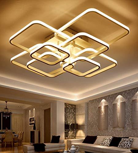 LED Wohnzimmerlampe Deckenleuchte Dimmbar Modern Eckig Badlampe Flurlampe Multicolor Ring Dekor Design Kronleuchter Metall Acryl-Schirm Schlafzimmer Jugendzimmer Esszimmer Küche Büro Lampen (8-Lampen)