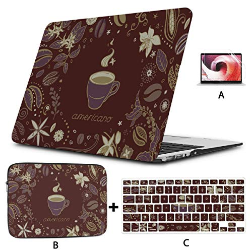 Mac Air Case Cup Of Hot Drink With Coffee Laptop Case Mac Hard Shell Mac Air 11'/13' Pro 13'/15'/16' With Notebook Sleeve Bag For Macbook 2008-2020 Version