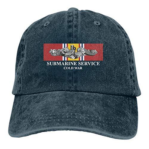 Submarine Service Silver Dolphins Cold War Veteran Denim Hats Cowboy Hats Dad Hat