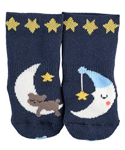 FALKE Babys Socken Baby Sleep Well, Baumwollmischung, 1 Paar, Blau (Marine 6120), Größe: 80-92