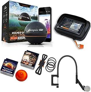 Deeper Smart Sonar Pro + Plus Juego WiFi GPS + Smartphone Soporte + Night Fishing Cover + Brazo Flexible + Case