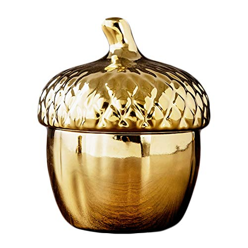 WXMYOZR Mini Pet Urns Funeral Cremation Urns for Human Ashes Keepsake Decorative Urns Small Pet Ceramics Urn Memorial Cremation Pet Urns for Dog And Cat Ashes,Gold