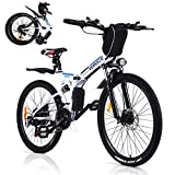 VIVI Bicicleta Eléctrica Plegable, para Bicicleta De Montaña Eléctrica para Adultos, Bicicleta Eléctrica Plegable De 26 Pulgadas, Motor De 250 W, Engranaje De 21 Velocidades Shimano