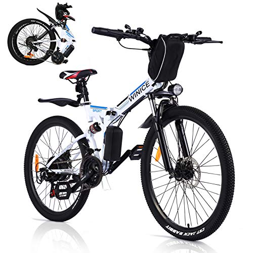 VIVI Bicicleta Eléctrica Plegable, 350...