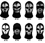 COD Call of Duty Ghost Recon Full SKI FACE MASK Balaclava Snowboard Costume New (BS-08) Black