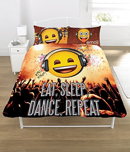 emoji Duvet Set, POLYCOTTON, Multi-Color, Double