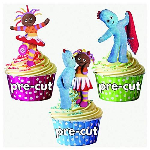 Lot de 12 décorations à cupcake comestibles Motif Dans le jardin des rêves