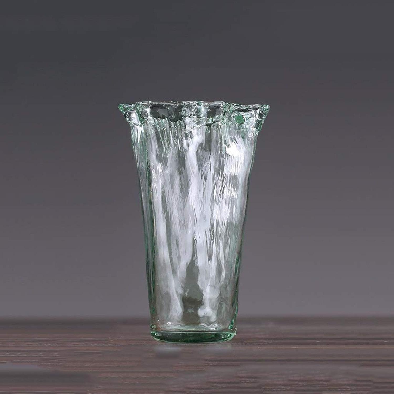 SHWSM Vase en Verre Transparent Décoration Hydroponique De Vase De Stockage De Ménage De Récipient De Plante (Taille   18×25×10cm)