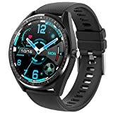 Smart Watch for Android iOS Phones Heart Rate Monitor Blood Oxygen Meter IP68 Waterproof 1.3' Round Full Touch Screen Calorie Counter Sports Fitness Tracker Watches for Men Women