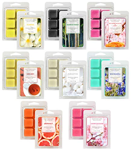 LASENTEUR Wax Melts, Wax Melts, Scented Wax Cubes, Wax Melts Gift Set for Women, Mother's Day and Father's Day, Natural Soy Wax Cubes for Candle Wax Warmer/Wax Melt Burners - 8x2.5 oz