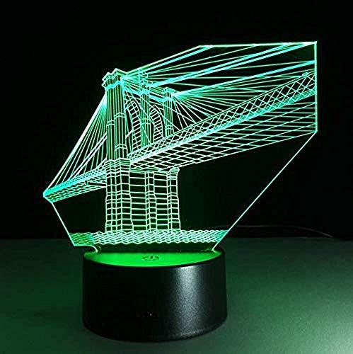 Inicio Puente de San Francisco Luces decorativas de 7 colores Visión 3D Luces LED de noche Luces infantiles táctiles USB Luces nocturnas Luces nocturnas
