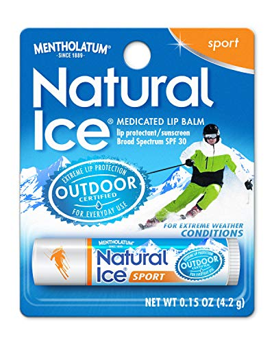 Natural Ice Sport - SPF 30 lip balm, Sport Flavor, 0.15 oz, Pack of 12