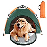 Tienda de campaña para Perros Tipi para Mascotas Cama para Mascotas extraíble semiautomática con cojín para Viajes y Acampar Ampliar 79 * 77 * 62 CM