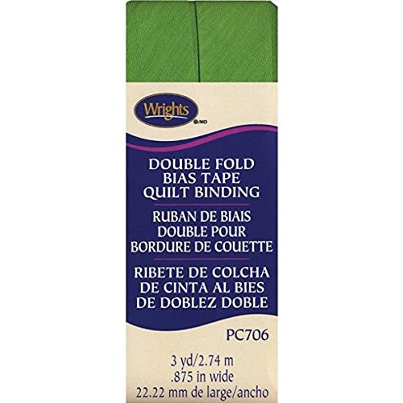 Wrights Double Fold Quilt Binding, 7/8 by 3-Yard, Kiwi
