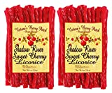 Shadow River Gourmet Sweet Cherry Licorice Candy - Old Fashioned Classic Colorful Red Candy Twists - 8 oz Bag - Pack of 2