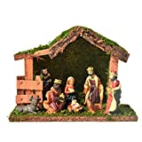 Jingshan Nativity Set, Natividad Figuras Navidad, Portal De Belén, Figuras para Belenes De Resina De Navidad De Portal Y Nacimiento, Figuras para Belenes Navideños Decoracion