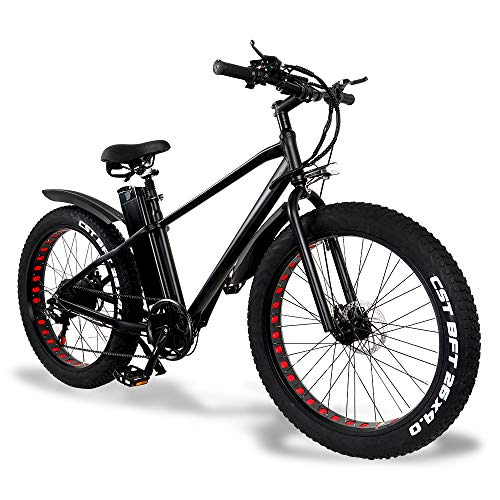 26' Mountain Bike Elettrico, 500W Fat Tire, Adulto Urbano Ebike Bicicletta con Rimovibile 48V / 15Ah Batteria, Professionista Speed ​​Gear, tachimetro LCD per la Corsa