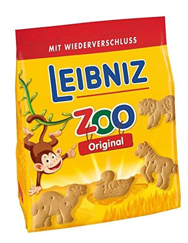 Leibniz ZOO, 6er Pack — Mini-Butterkekse  in der Großpackung —Butter-Gebäck für Kinder — Kinderkekse in der Vorrats-Box (6 x 125 g)  — Tier Kekse zum Spielen