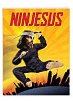 Ninjesus誕生日面白いGreeting Card 1 Jumbo Birthday Card & Enve. (J9640)