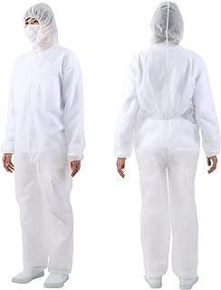 ワークスタイルエース 不織布つなぎ服 フード付 WS6800 4Lサイズ, ホワイト