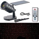 Lunartec Gartenlaser: Solar-Laser-Projektor mit Akku, Sternenregen-Lichteffekt, Timer, IP65 (Solar Projektor Weihnachten)