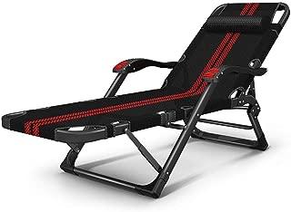 Folding Lounge Chair Deck Chair Recliner Lounger Office Nap Chair Garden Terrace Beach Sun Chair Camping Bed Portable Backrest Armchair Chair,A