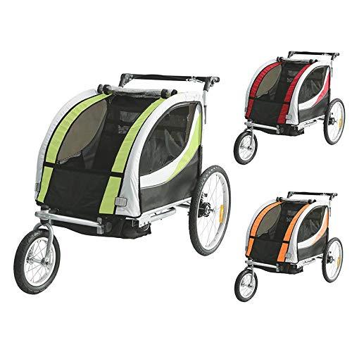 Tiggo Convertible Jogger Remorque à Vélo 2 en 1 pour Enfants avec Suspension 802 JBT03N (Rouge)