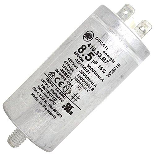 Condensatore permanente 8.5µf 400V–asciugatrice–INDESIT, Hotpoint, ariston, scholtes