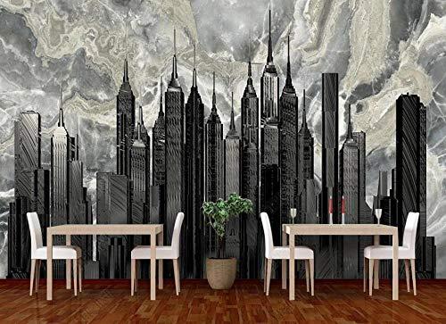 Papel Pintado Pared 3D Fotomurales Textura De Piedra Abstracta De Edificios Altos Papel Tapiz 3D Mural Pared Papel Salon Dormitorio Pared Decorativos-350cmx256cm