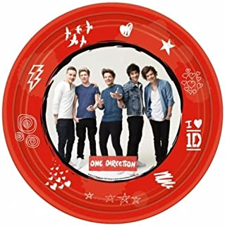 One Direction 1D 8 PK Plates Party Accessories