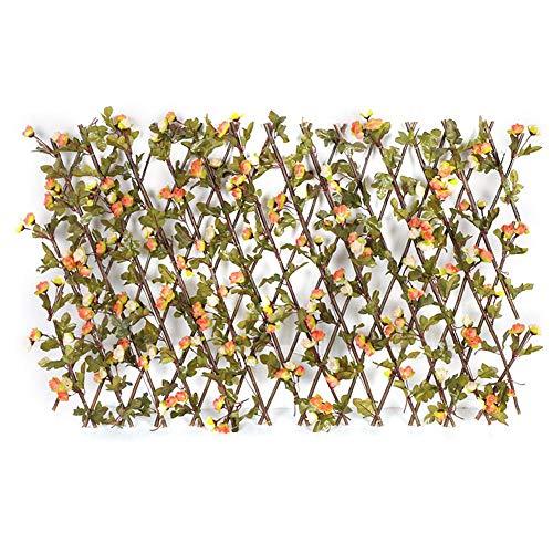 Chuanfeng - Placas artificiales de protección visual para jardín o balcón con flores, 40 x 20 cm, 70 x 20 cm