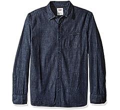 Levis Greg Camisa clásica de mezclilla con botones para hombre - Azul - Small: Amazon.es: Ropa y accesorios