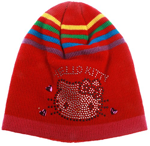 Bonnet multicouleur fille Hello kitty rouge T54 (6/9ans)