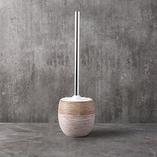 LWF Salle de bains Toilette Brosse Vintage Handmade Brush Porte-Céramique Creative Longue Poignée Brosse De Nettoyage (Couleur : A)