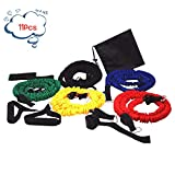 Lonfenner Gomas elasticas Fitness Fitness Rally Belt Rally Rope Gym Suministros de educación Personal Power Resistance Band Unisex