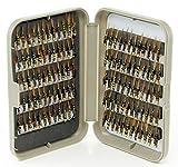 G Fly Box + 10, 25, 50, 100 o 240 moscas holográficas mixtas para pesca de trucha, Hook Size 14