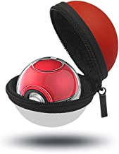 JZW-Shop Hard Carrying Case and Clear Case for Poke Ball Plus Controller Portable Protective Bag and Cover Case for Pokémon Lets Go Pikachu Eevee (Carrying Case+Clear Case)