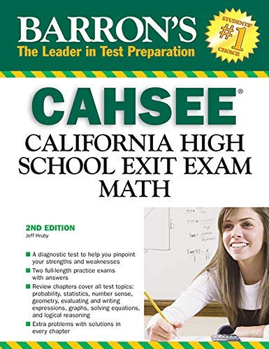 [(Barron's CAHSEE: Math : California High School Exit Exam)] [By (author) Jeff Hruby] published on (October, 2008)