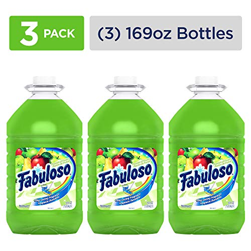 FABULOSO All Purpose Cleaner, Passion Fruit, Bathroom Cleaner, Toilet Cleaner, Floor Cleaner, Washing Machine and Dishwasher Surface Cleaner, Mop Cleanser, 169 Ounce (Pack of 3) (MX04966A)