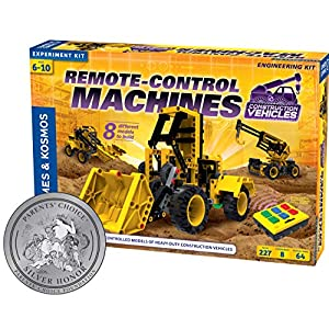 Thames & Kosmos Remote-Control Machines: Construction Vehicles | Science & Engineering Experiment Stem Kit | Build 8 Real Working Models | Parents' Choice Silver Award Winner |Astra Best Toys for Kids - 51QdKq2 U0L - Thames & Kosmos Remote-Control Machines: Construction Vehicles | Science & Engineering Experiment Stem Kit | Build 8…