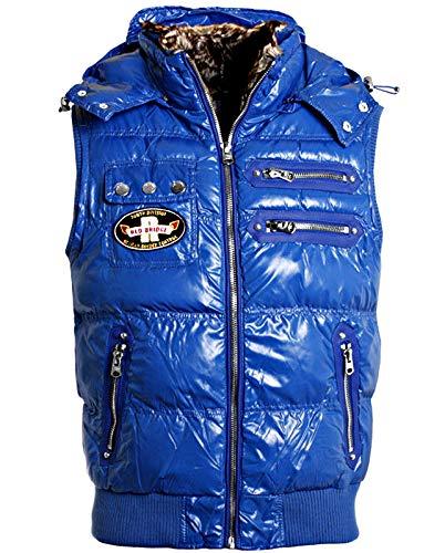 Red Bridge heren winter vest jas mouwloos zonder arm gevoerd Slimfit glanzende look R-5303