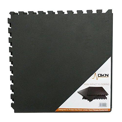 DKN Technology - Materassino di Protezione per Pavimento, Modello a Puzzle, 6 Pezzi da incastrare