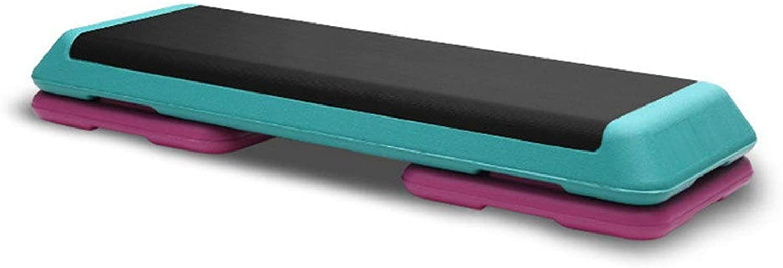 耐久性のある大人ユニセックス2レベル調整可能な有酸素フィットネスステッパー調整可能な屋内ヨガジムボード -オフィスおよびホームフィットネス (色 : 青, サイズ : 110cm)