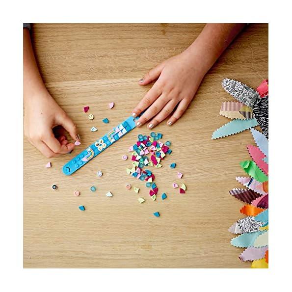 LEGO-Dots-Extra-Serie-1-Accessori-con-Elementi-Glitterati-Traslucidi-e-Speciali-per-Cambiare-il-tuo-Braccialetto-o-le-tue-Creazioni-con-Decorazioni-Aggiuntive-per-Bambini-da-6-Anni-41908